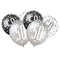 Birthday Glitz Black & Silver 50th Pearlised Latex Balloons - Pack of 6