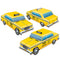 3-D Taxi Cab Centrepieces - Pack of 3