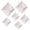 3-D Silver Foil Hanging Diamond Decorations - Pack of 6