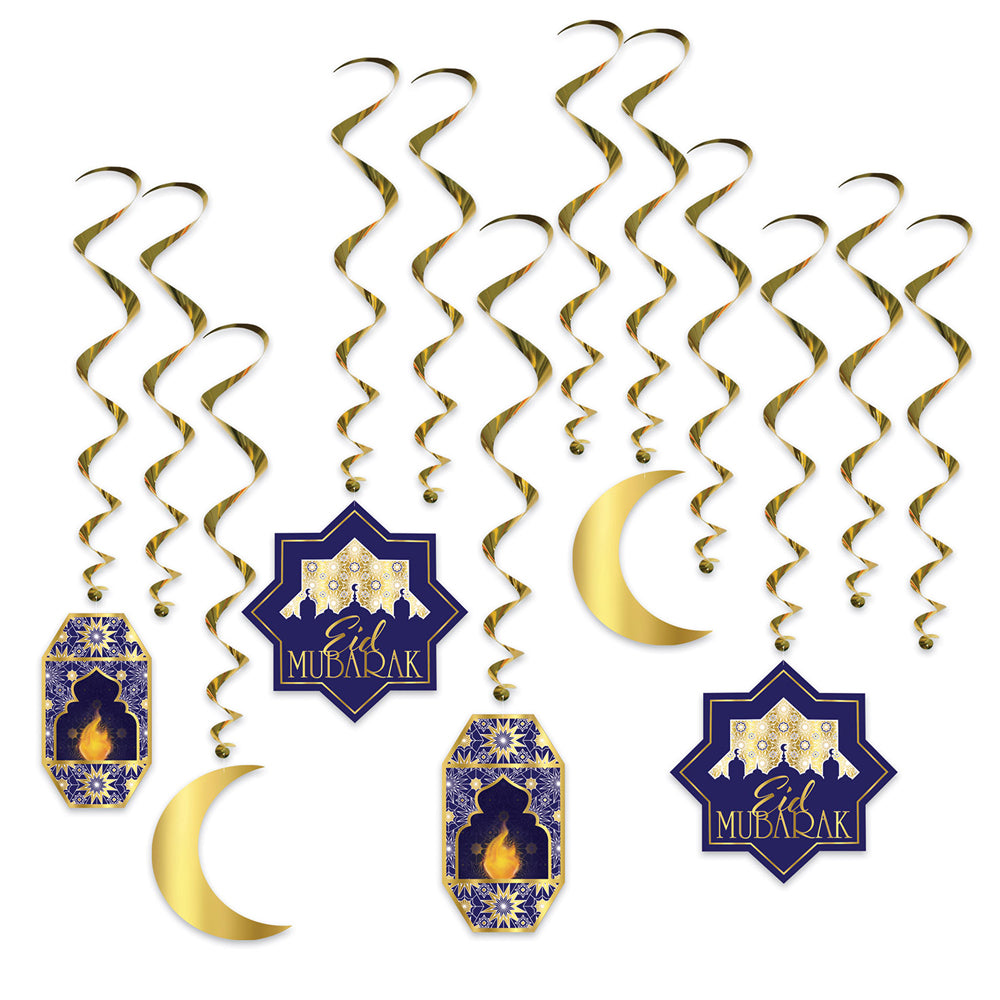 Ramadan Whirl Decorations - Pack of 12