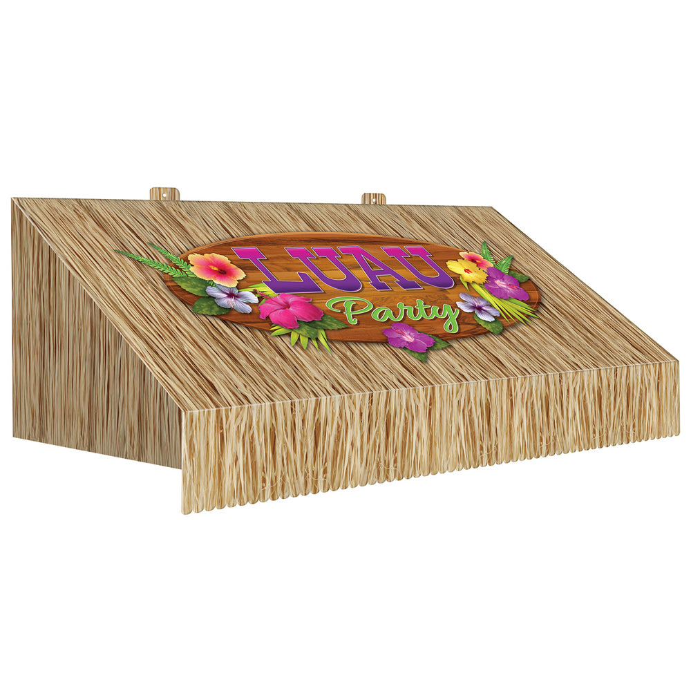 3-D Tiki Bar Awning Wall Decoration - 63cm x 22cm