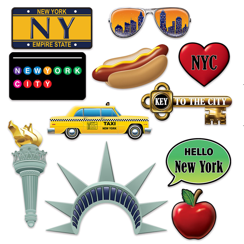 New York City Photo Fun Signs - Pack of 11