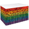 Rainbow Metallic Table Skirting - 76cm x 4.3m