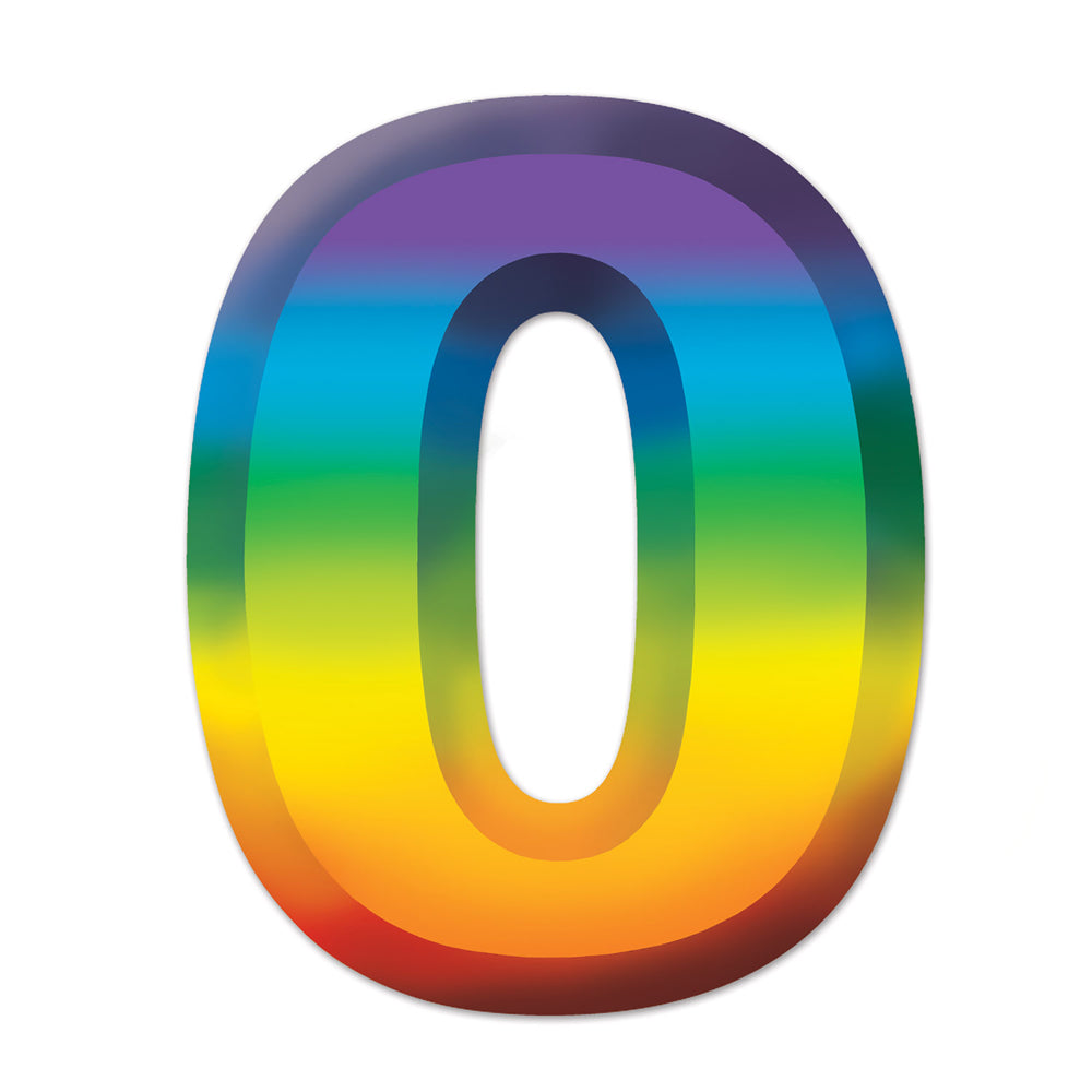 "Multicoloured Plastic 3D Number ""0"" - 11"""