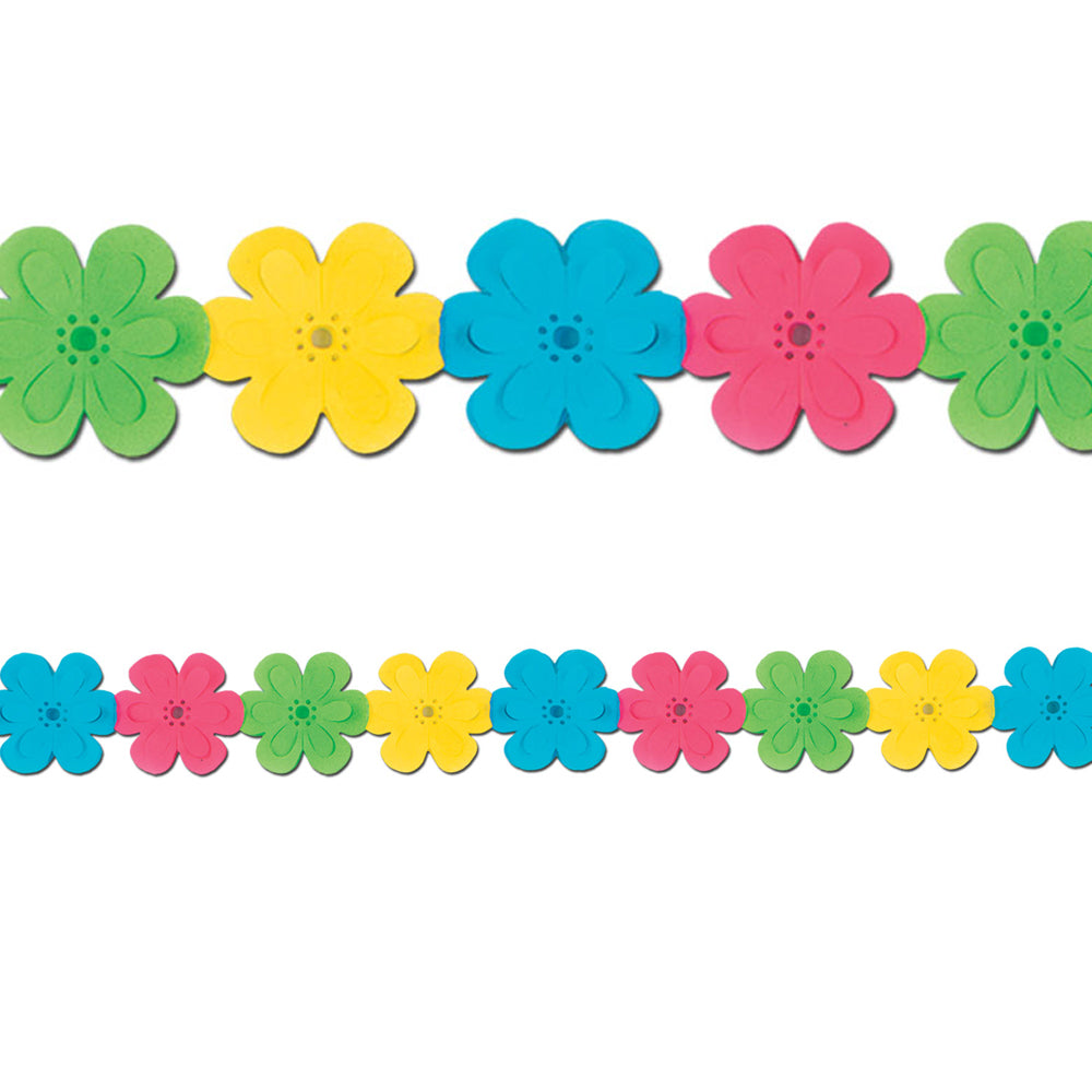 Multicolour Tissue Flower Garland - 3.65m