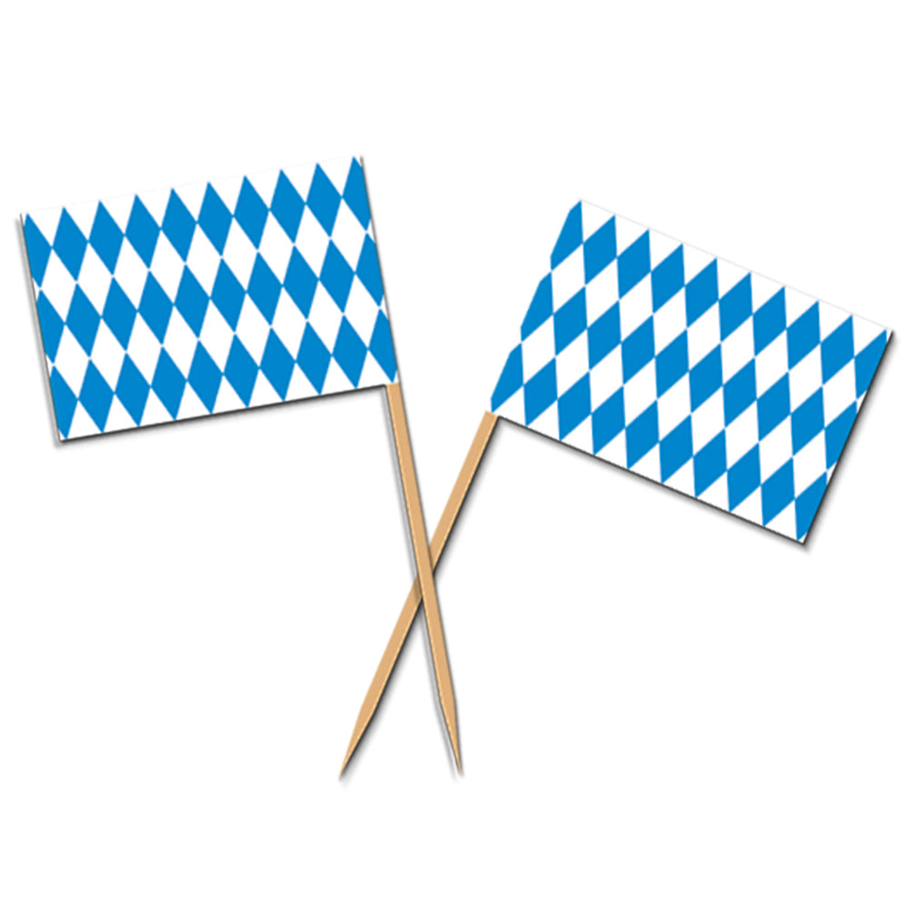 Oktoberfest Flag Picks - Pack of 50