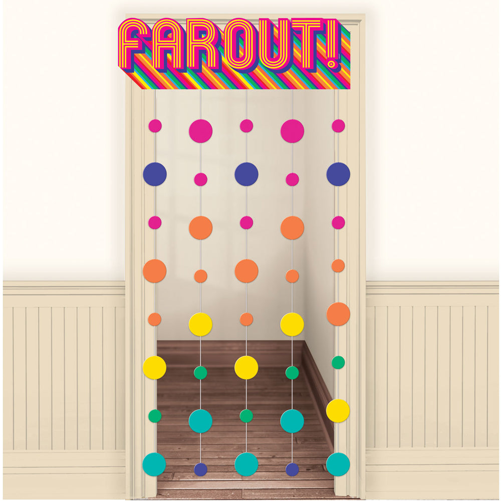 70's Good Vibes 'Farout' Door Curtain - 99cm x 1.95m