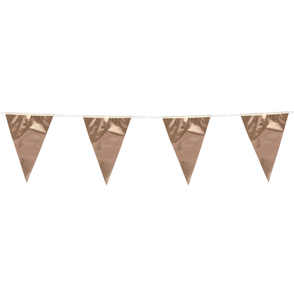 Rose Gold Mini Foil Bunting - 3m