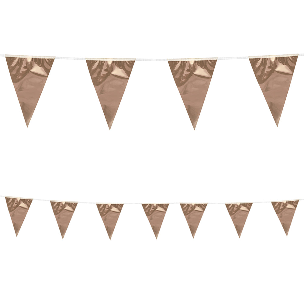 Metallic Rose Gold Bunting - 10m