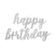 Black & Silver Glitz Jointed 'Happy Birthday' Letter Banner