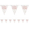 Birthday Glitz Rose Gold Happy Birthday Flag Bunting - 2.7m