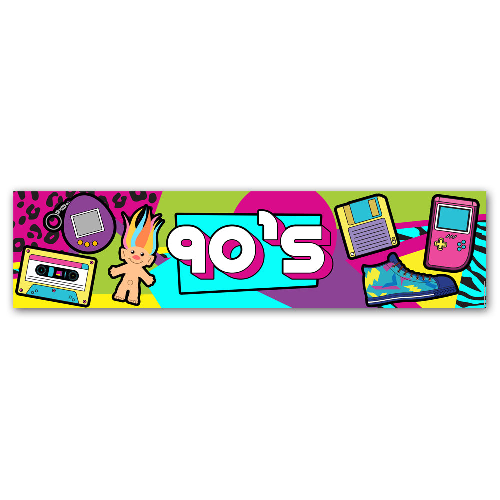 90's Retro Banner Decoration