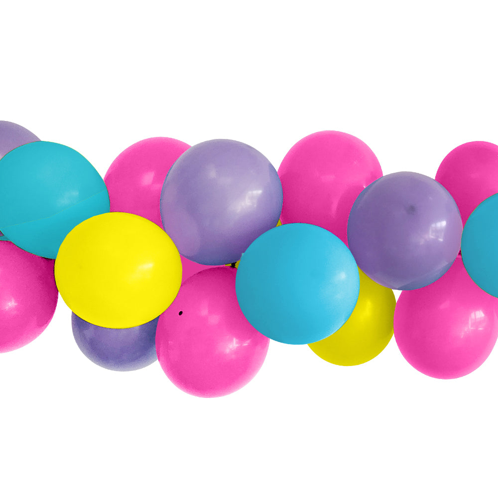 Purple, Pink and Yellow Balloon Arch DIY Kit - 2.5m