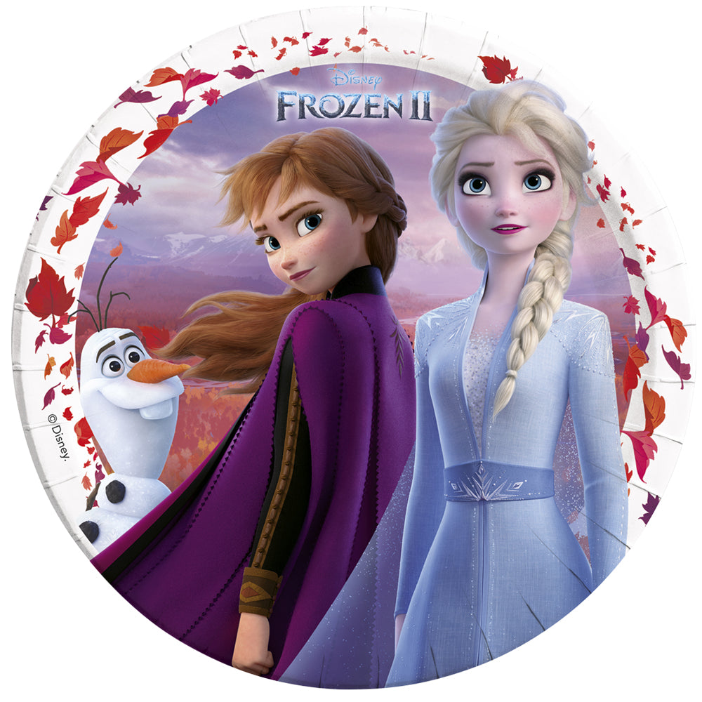 Disney Frozen 2 Paper Plates - 23cm - Pack of 8