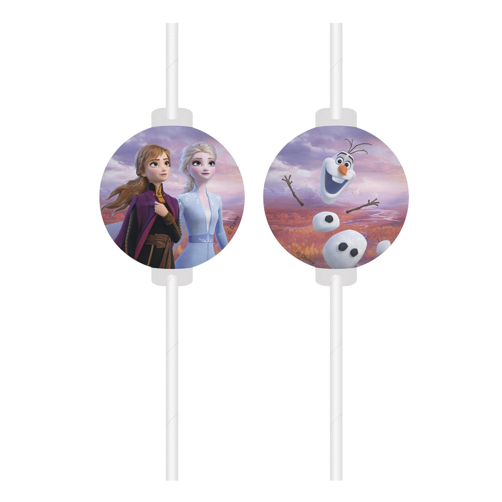 Disney Frozen 2 Straws - Pack of 4