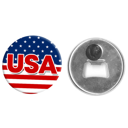 Bottle Opener Magnet - 58mm - American USA