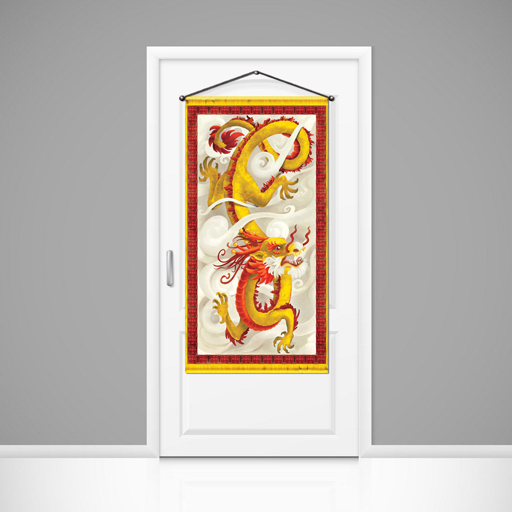 Chinese Dragon Door & Wall Banner Decoration - 1.5m