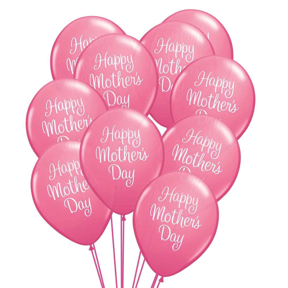 Mother's Day Classy Script Latex Balloons - Pack of 10
