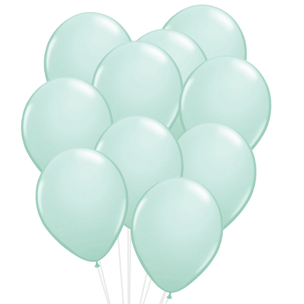 "Pastel Mint Green Latex Balloons - 12"" - Pack of 20"