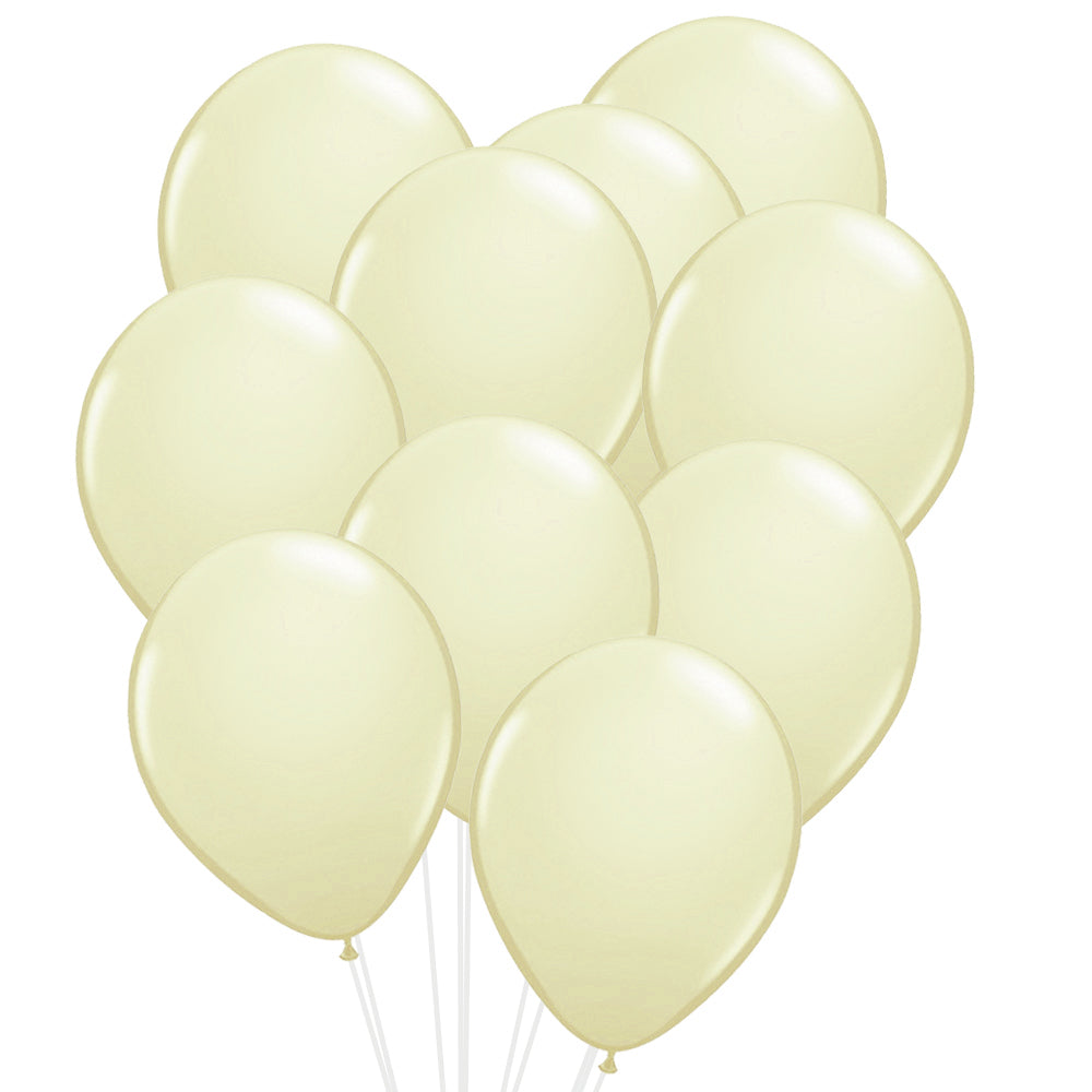 "Pastel Ivory Latex Balloons - 12"" - Pack of 20"