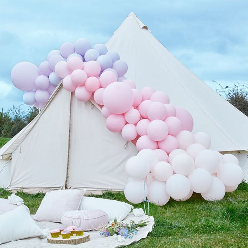 Luxe Pastel Pink and Purple Balloon Arch Kit - 8m