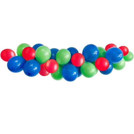 Red, Green & Blue Balloon Arch DIY Kit - 2.5m
