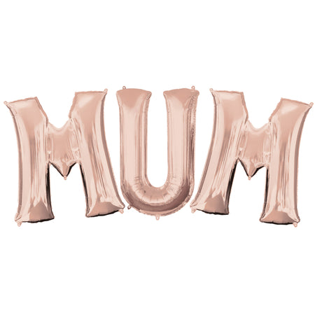 M-U-M Mother's Day Rose Gold Foil Balloons - 16