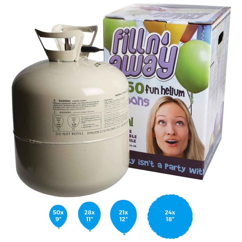 Helium Balloon Gas Canister For 50 Balloons (Recyclable)