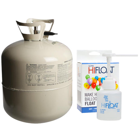 Helium Balloon Gas Canister & Ultra Hi-Float for 50 Balloons