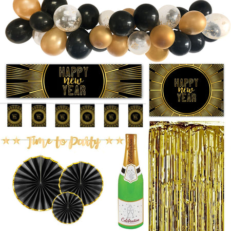 New Years Eve Gold Decoration Pack