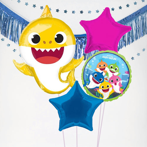 Inflated Baby Shark Balloon Bundle in a Box