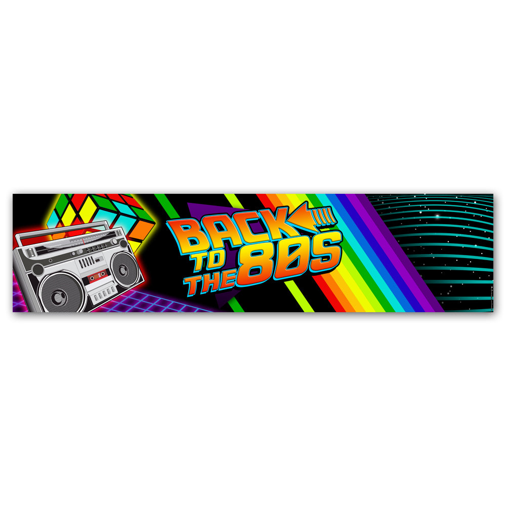 Back to the 80's Banner Decoration - 1.2m