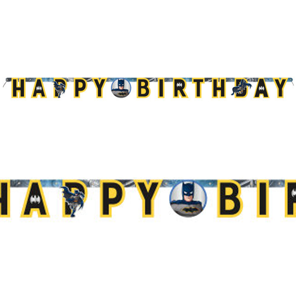 Batman Happy Birthday Jointed Letter Banner