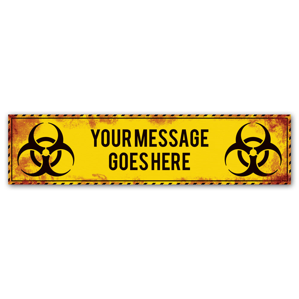 Biohazard Pandemic Halloween Personalised Banner Decoration - 1.2m