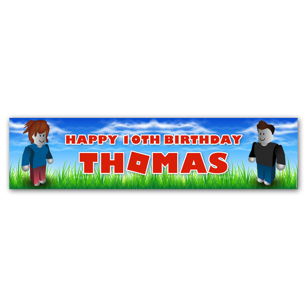 Blox Friends Personalised Banner Decoration - 1.2m