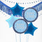 Inflated Blue Birthday Glitz Balloon Bundle in a Box