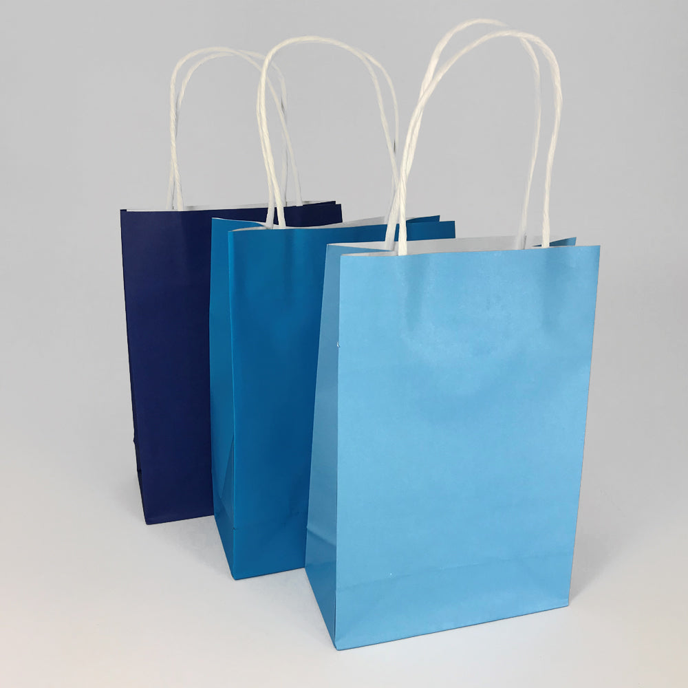 Blue Colours Paper Party Bags - Pack of 6