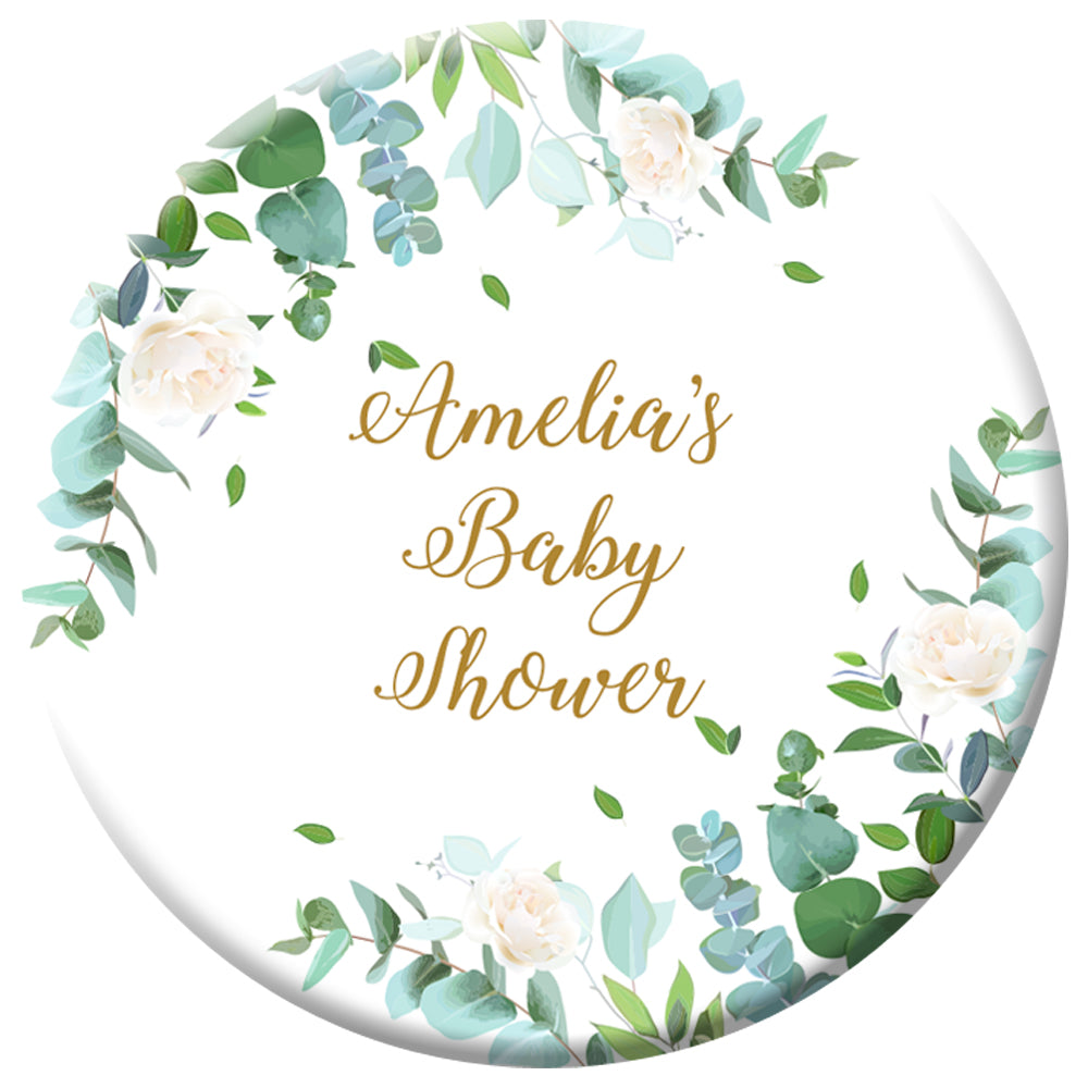 Personalised Botanical Badge - 58mm