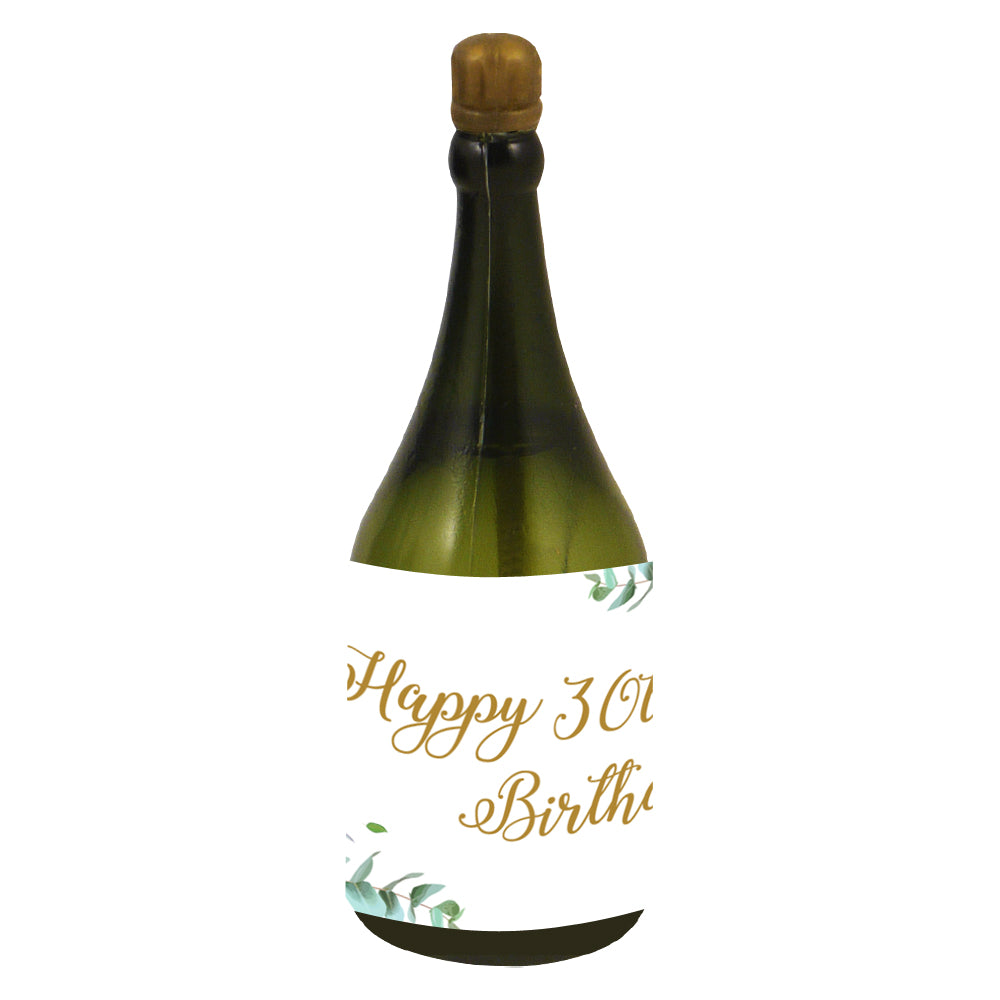 Personalised Champagne Bubbles - Botanical - Pack of 16