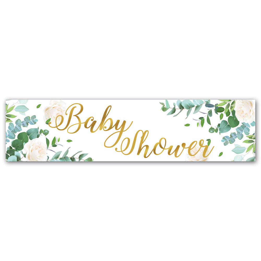Botanical Foliage Baby Shower Banner - 1.2m