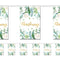 Botanical Foliage Christening Flag Paper Bunting Decoration - 2.4m