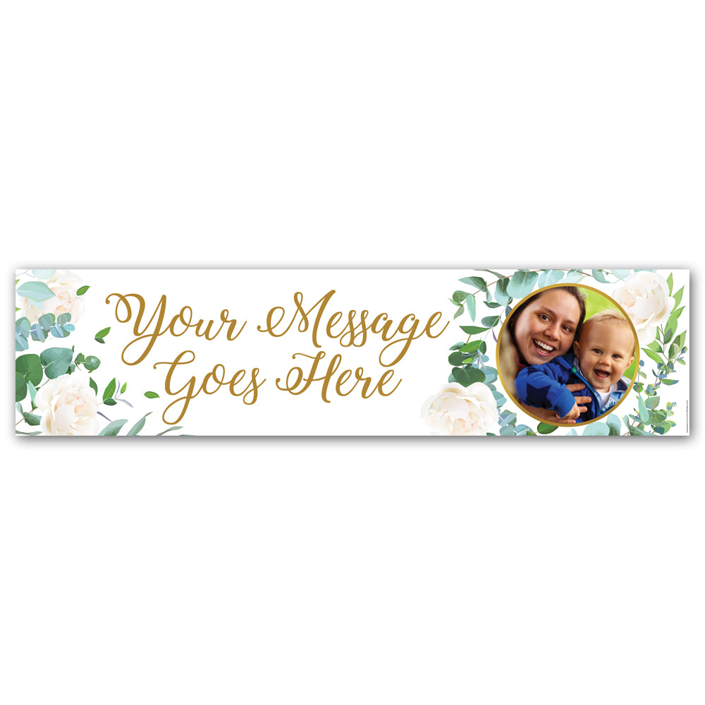Botanical Foliage Personalised Photo Banner - 1.2m