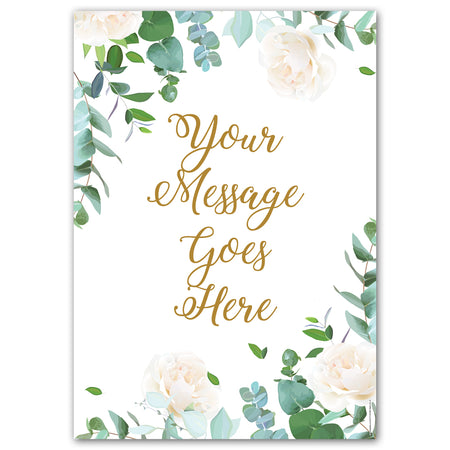 Botanical Foliage Personalised Poster Decoration - A3