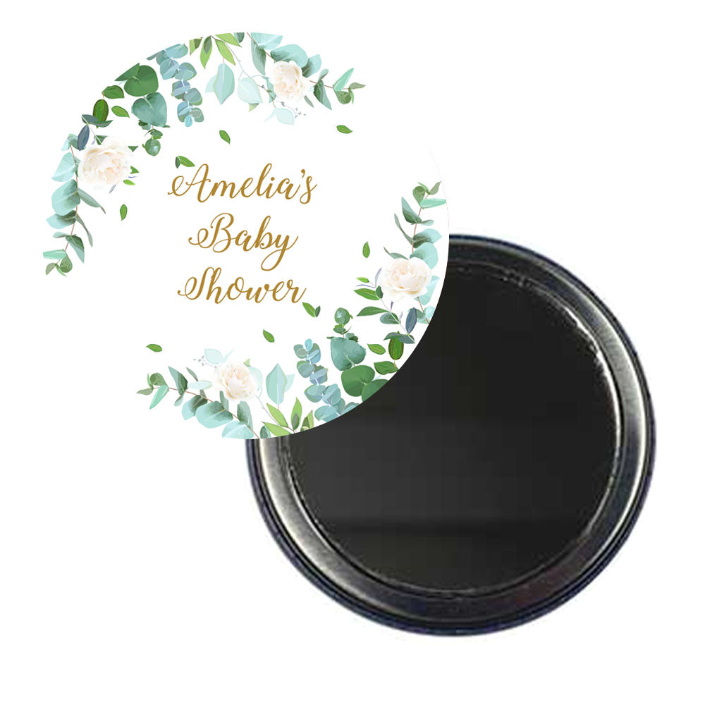 Botanical Personalised Pocket Mirror - 58mm - Each