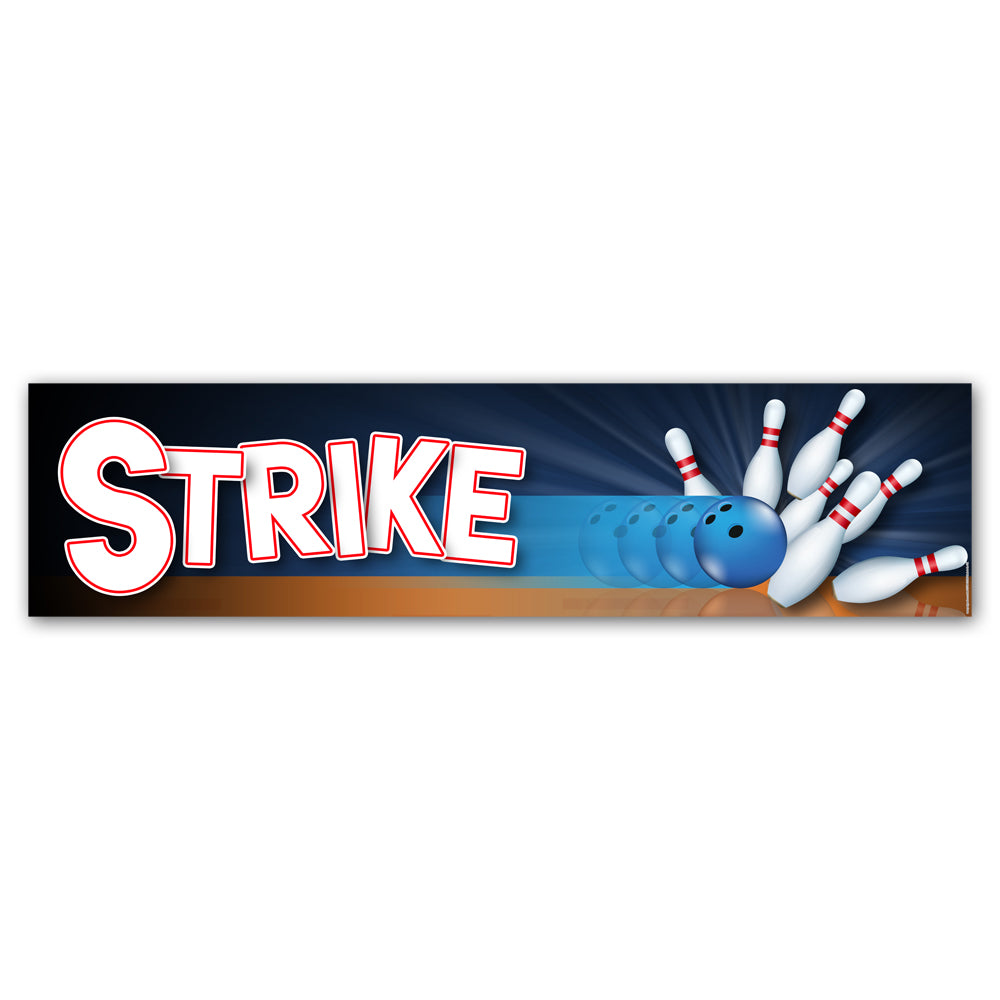 Bowling 'Strike' Banner Decoration - 1.2m