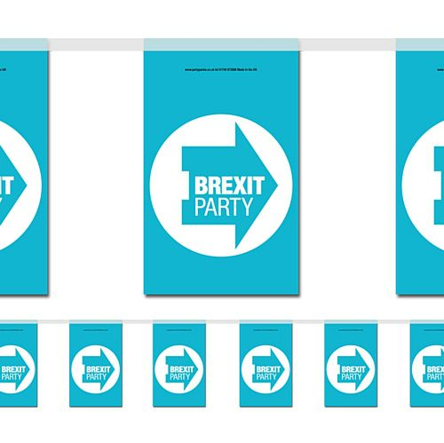 Brexit Party Flag Interior Bunting - 2.4m