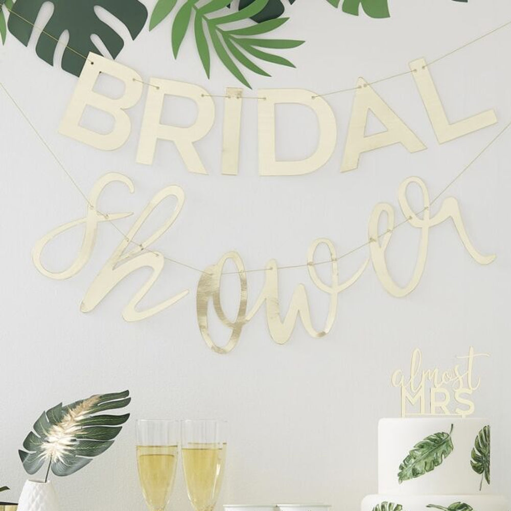 Gold Bridal Shower Bunting - 2m
