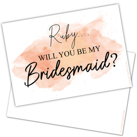 Personalised 'Will You Be My Bridesmaid? Card - Each