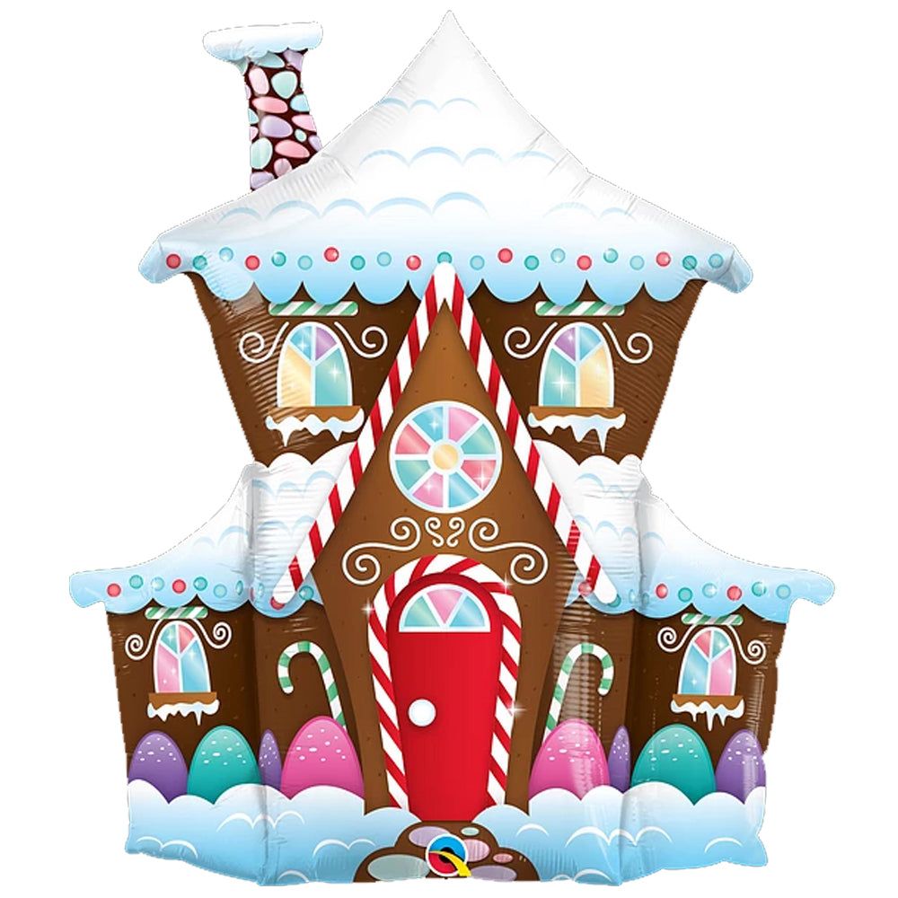 Gingerbread House Foil Balloon