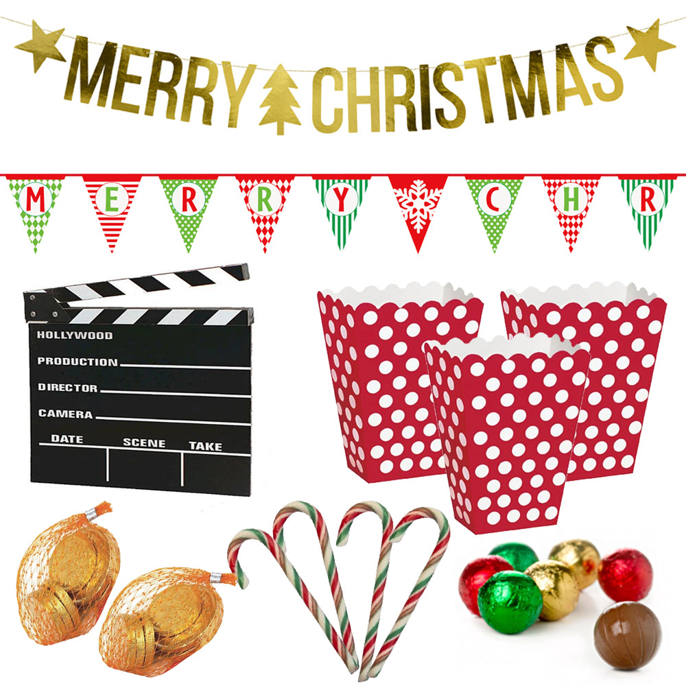 Christmas Movie Night Kit With Decorations